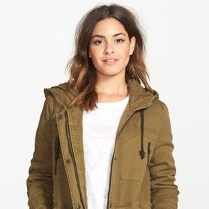 Xs volcom lentil green 'stand up' military jacket